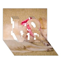 Adorable Sleeping Puppy Love 3d Greeting Card (7x5)  by trendistuff