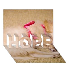 Adorable Sleeping Puppy Hope 3d Greeting Card (7x5)  by trendistuff