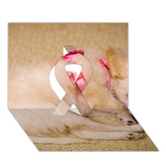 Adorable Sleeping Puppy Ribbon 3d Greeting Card (7x5)  by trendistuff