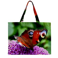 Peacock Butterfly Zipper Tiny Tote Bags by trendistuff