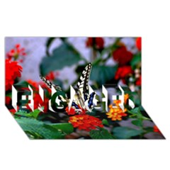 Butterfly Flowers 1 Engaged 3d Greeting Card (8x4)  by trendistuff