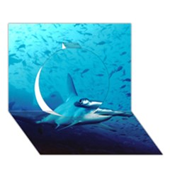 Hammerhead Circle 3d Greeting Card (7x5)