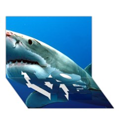 Great White Shark 3 Love Bottom 3d Greeting Card (7x5)  by trendistuff