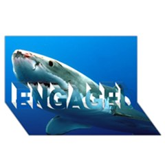 Great White Shark 3 Engaged 3d Greeting Card (8x4)  by trendistuff