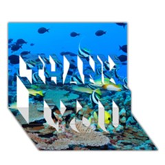 Fr Frigate Shoals Thank You 3d Greeting Card (7x5)  by trendistuff