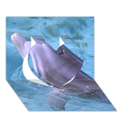 Dolphin 2 Heart 3d Greeting Card (7x5)  by trendistuff