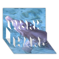 Dolphin 2 Work Hard 3d Greeting Card (7x5)  by trendistuff