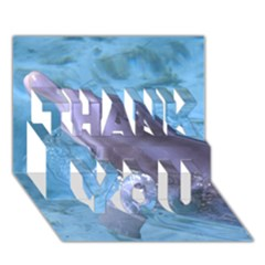 Dolphin 2 Thank You 3d Greeting Card (7x5)  by trendistuff