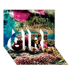 Coral Reefs 1 Girl 3d Greeting Card (7x5)  by trendistuff