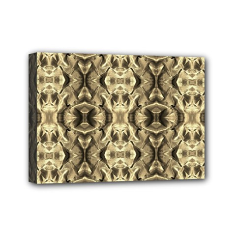 Gold Fabric Pattern Design Mini Canvas 7  X 5  by Costasonlineshop