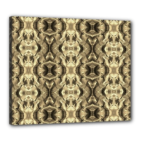 Gold Fabric Pattern Design Canvas 24  X 20  by Costasonlineshop