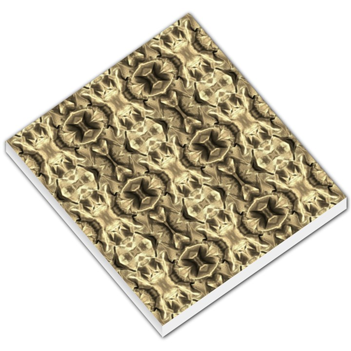 Gold Fabric Pattern Design Small Memo Pads