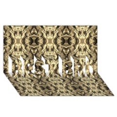 Gold Fabric Pattern Design Best Bro 3d Greeting Card (8x4)  by Costasonlineshop