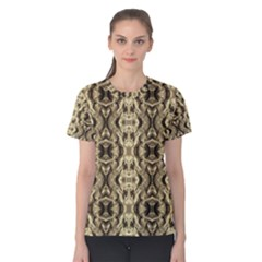 Gold Fabric Pattern Design Women s Cotton Tee by Costasonlineshop