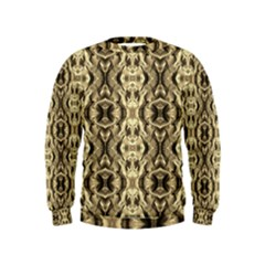 Gold Fabric Pattern Design Boys  Sweatshirts by Costasonlineshop