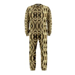 Gold Fabric Pattern Design Onepiece Jumpsuit (kids) by Costasonlineshop
