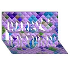 Mosaic & Co 01b Happy Birthday 3d Greeting Card (8x4)  by MoreColorsinLife