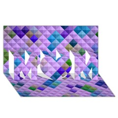 Mosaic & Co 01b Mom 3d Greeting Card (8x4)  by MoreColorsinLife