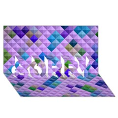 Mosaic & Co 01b Sorry 3d Greeting Card (8x4)  by MoreColorsinLife