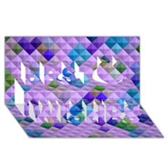 Mosaic & Co 01b Best Wish 3d Greeting Card (8x4)  by MoreColorsinLife