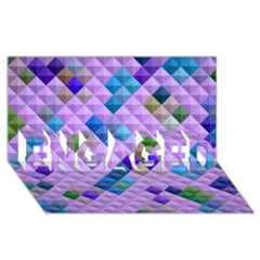 Mosaic & Co 01b Engaged 3d Greeting Card (8x4)  by MoreColorsinLife