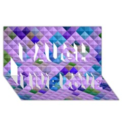 Mosaic & Co 01b Laugh Live Love 3d Greeting Card (8x4)