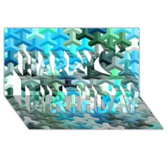 Mosaic & Co 02a Happy Birthday 3d Greeting Card (8x4)  by MoreColorsinLife