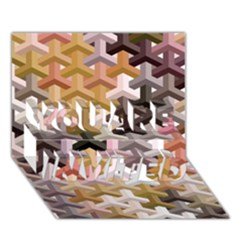Mosaic & Co 02b You Are Invited 3d Greeting Card (7x5)  by MoreColorsinLife