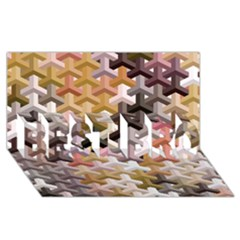 Mosaic & Co 02b Best Bro 3d Greeting Card (8x4)  by MoreColorsinLife