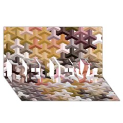 Mosaic & Co 02b Believe 3d Greeting Card (8x4)  by MoreColorsinLife