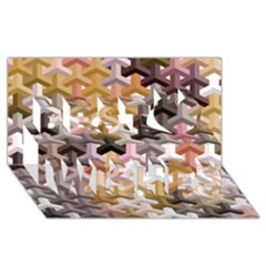 Mosaic & Co 02b Best Wish 3d Greeting Card (8x4)  by MoreColorsinLife