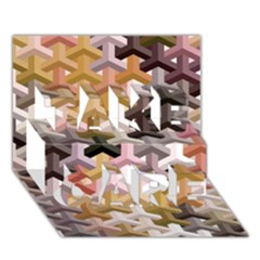 Mosaic & Co 02b Take Care 3d Greeting Card (7x5)