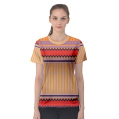 Stripes And Chevrons Women s Sport Mesh Tee by LalyLauraFLM