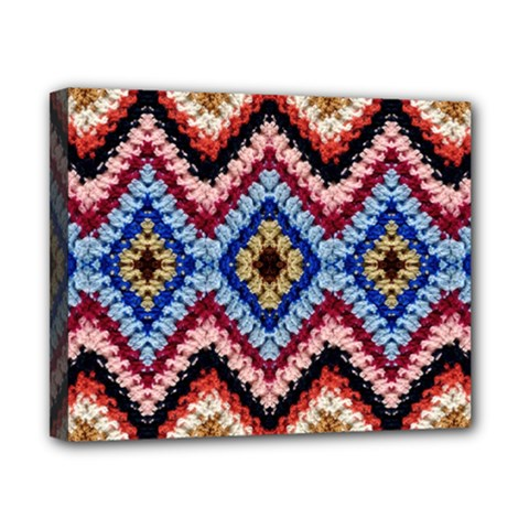 Colorful Diamond Crochet Canvas 10  X 8  by Costasonlineshop