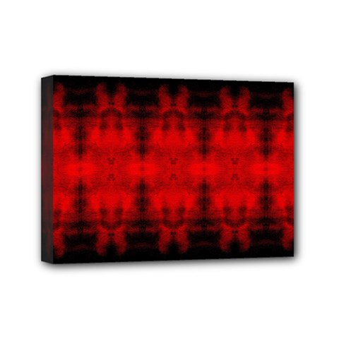 Red Black Gothic Pattern Mini Canvas 7  X 5  by Costasonlineshop