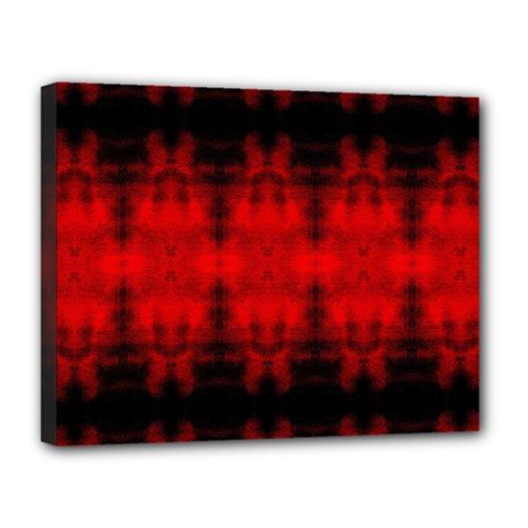 Red Black Gothic Pattern Canvas 14  X 11  by Costasonlineshop