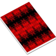 Red Black Gothic Pattern Large Memo Pads by Costasonlineshop