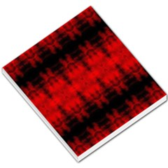 Red Black Gothic Pattern Small Memo Pads
