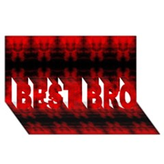 Red Black Gothic Pattern Best Bro 3d Greeting Card (8x4)