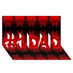 Red Black Gothic Pattern #1 Dad 3d Greeting Card (8x4)  by Costasonlineshop