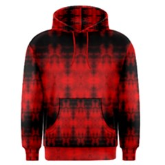 Red Black Gothic Pattern Men s Pullover Hoodies by Costasonlineshop