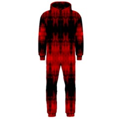 Red Black Gothic Pattern Hooded Jumpsuit (men)  by Costasonlineshop