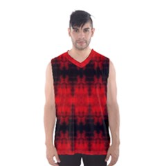 Red Black Gothic Pattern Men s Basketball Tank Top by Costasonlineshop