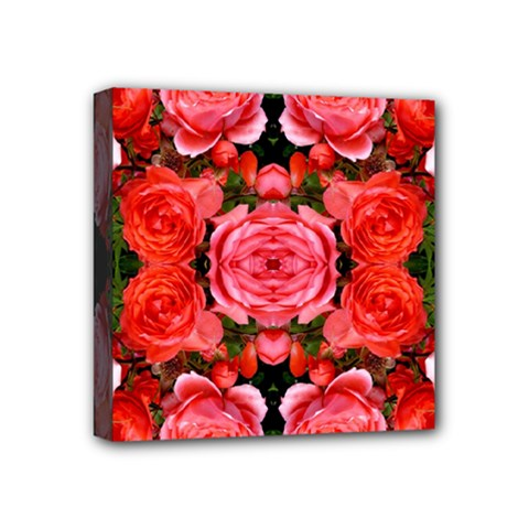 Beautiful Red Roses Mini Canvas 4  X 4  by Costasonlineshop