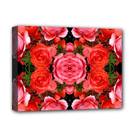 Beautiful Red Roses Deluxe Canvas 16  X 12   by Costasonlineshop