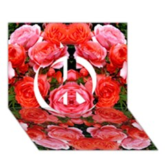 Beautiful Red Roses Peace Sign 3d Greeting Card (7x5)  by Costasonlineshop
