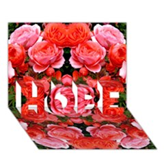 Beautiful Red Roses Hope 3d Greeting Card (7x5)  by Costasonlineshop