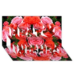 Beautiful Red Roses Best Wish 3d Greeting Card (8x4)  by Costasonlineshop