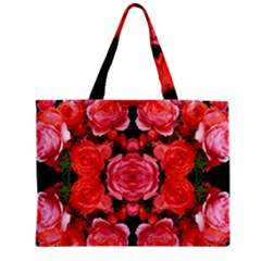 Beautiful Red Roses Zipper Tiny Tote Bags by Costasonlineshop