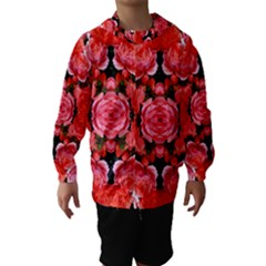 Beautiful Red Roses Hooded Wind Breaker (kids) by Costasonlineshop